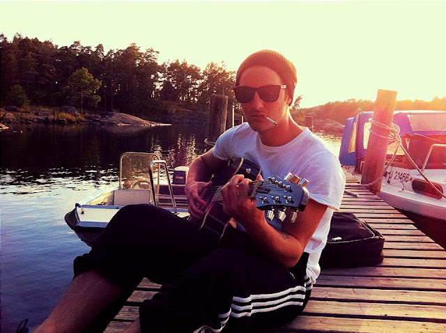 Finland, Summer, Guitar, Sea, Island, Dock