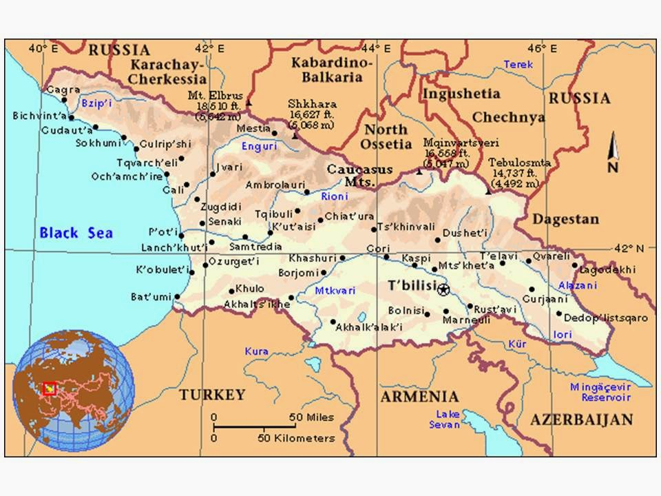 Georgia The Republic Not The State With Neal Butterfly In - Georgia map lonely planet