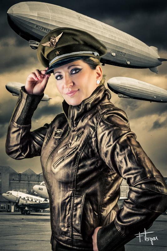 aviator girl zeppelin - técnicas de fotografía