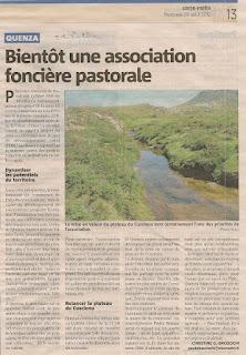 association foncière pastorale Quenza