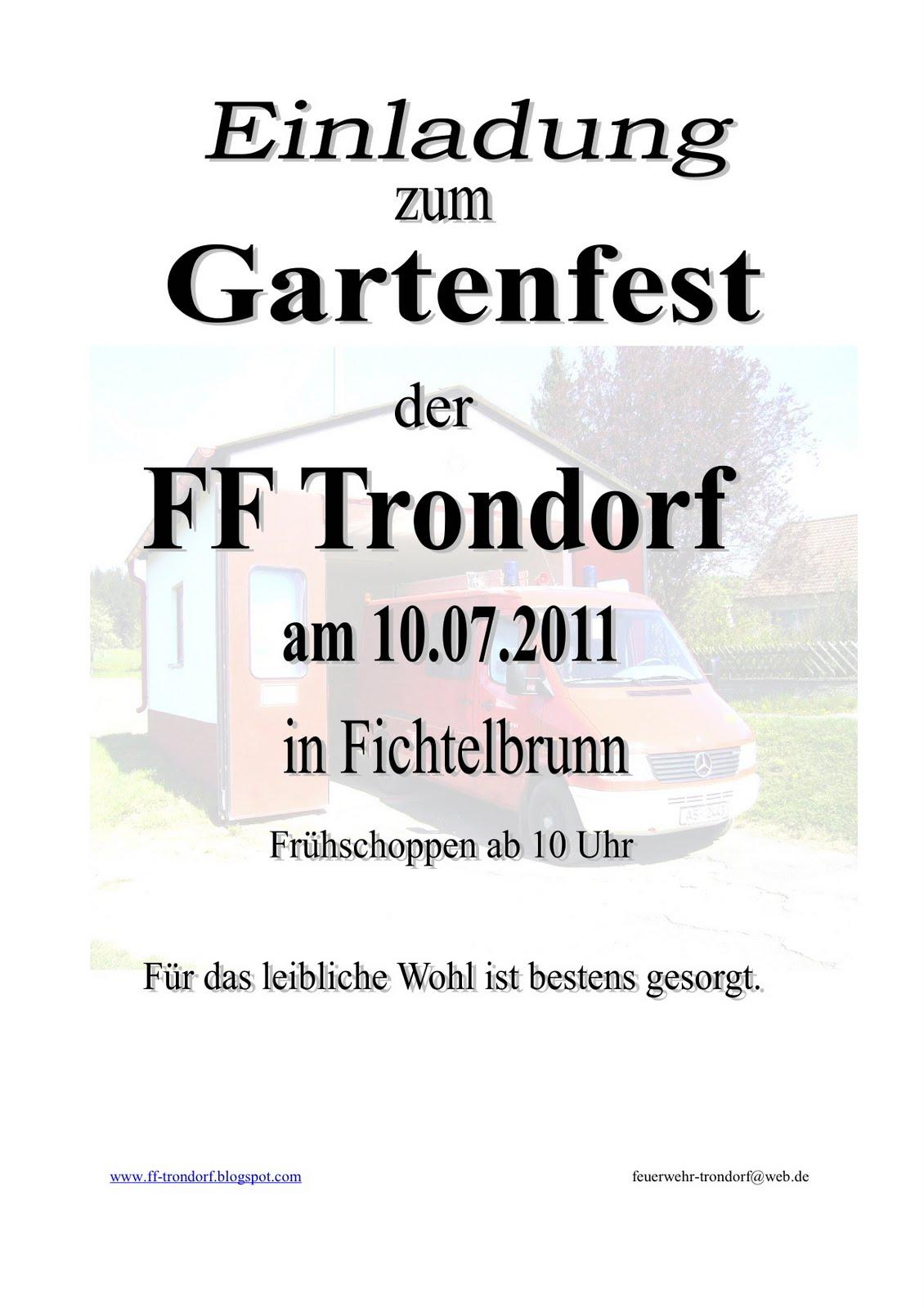 freiwillige feuerwehr trondorf, Einladung