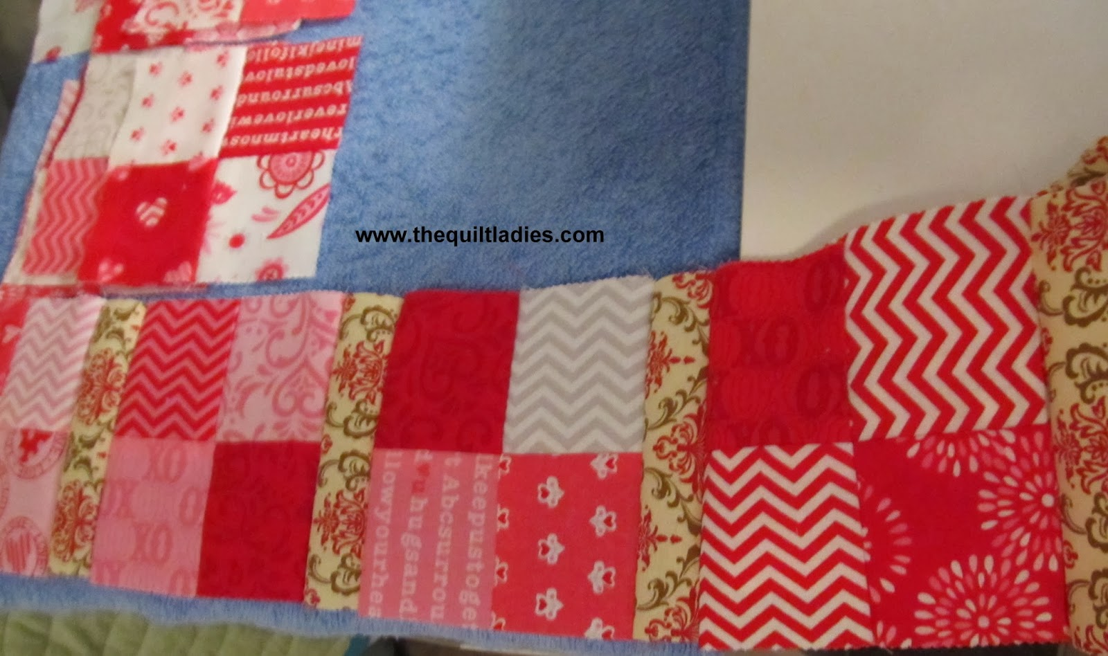 red and white quilt blocks