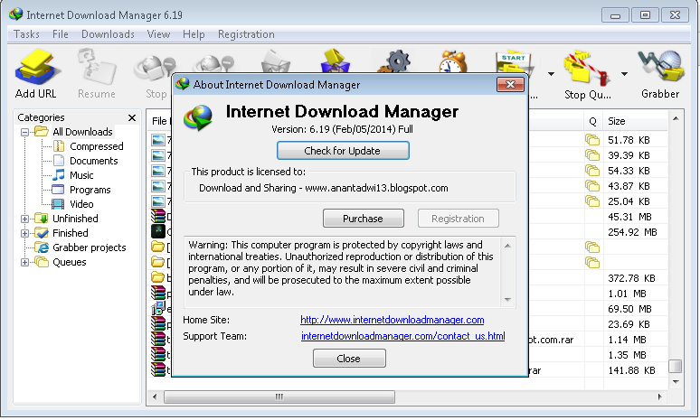 Internet Download Manager (IDM) v6.19 Full Patch