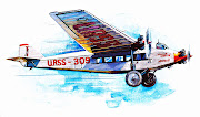 Here I post today two lovely illustrations of antique airplanes from the . (russian airplane )