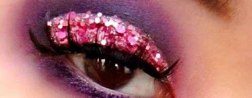 maquillaje de ojos de fantasia para san valentin