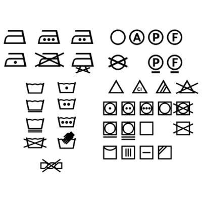 Logo Petunjuk Pencucian Washing vektor