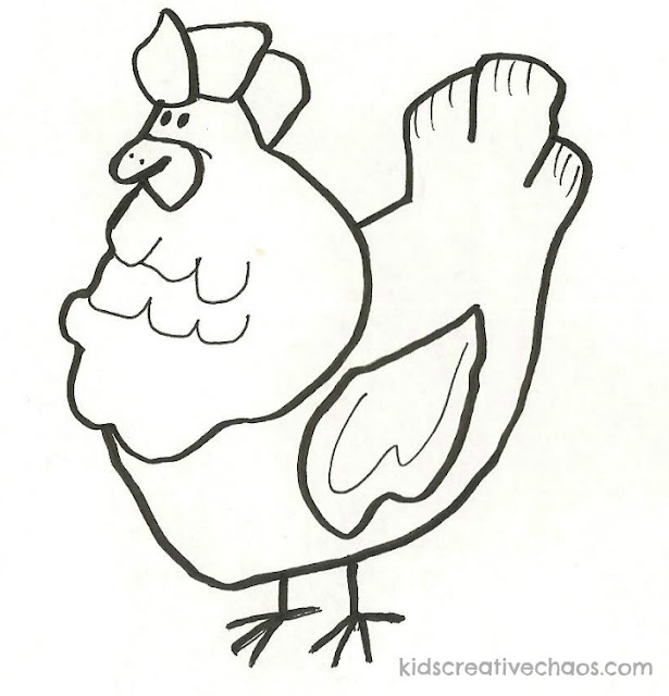 Learn How to Draw: Trace The Pictures of a Cartoon Chicken, Chicken Hawk, and Duck Clipart Printables
