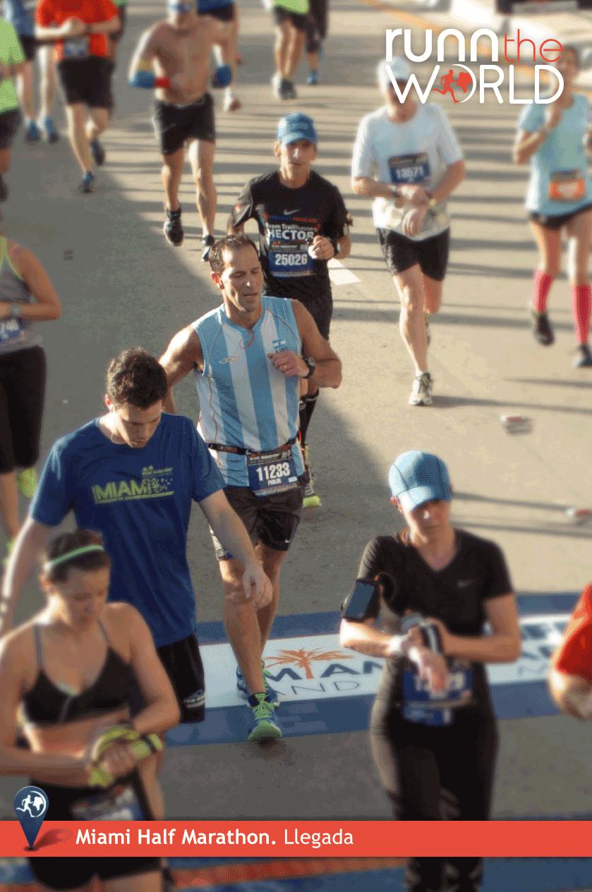 Miami Half Marathon 2014 Llegada