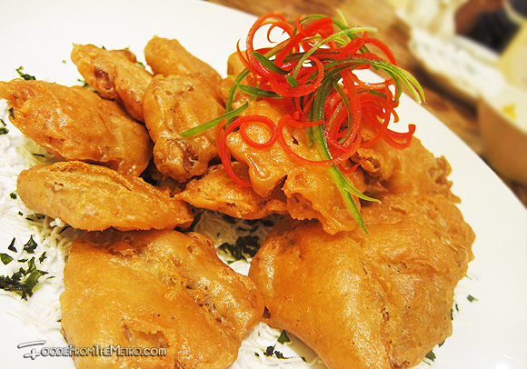 Foodie from the Metro - Mabuhay Palace Vegetarian Menu Stir-Fried Osyter Mushroom with Salt and Pepper