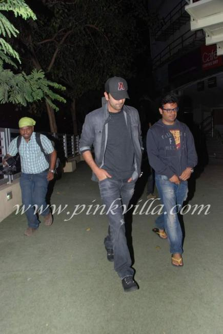 Ranbir Kapoor and Ayan Picture at multiplex