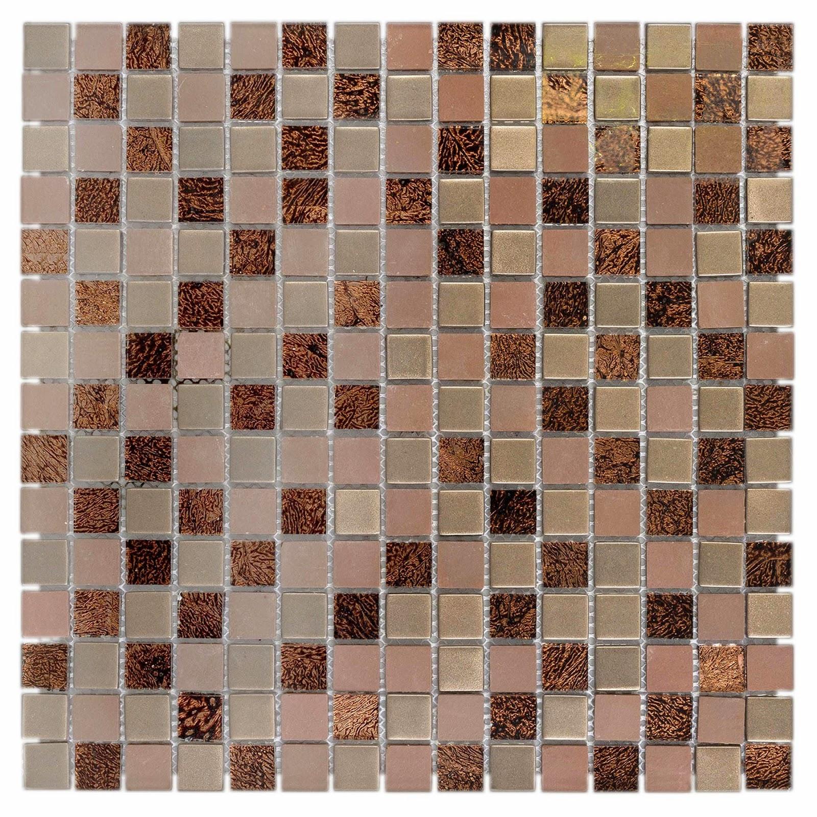 Pastilha de Vidro Marrom e Dourada INF 150 30x30 cm Colortil #3E2018 1600x1600 Banheiro Com Pastilhas Douradas