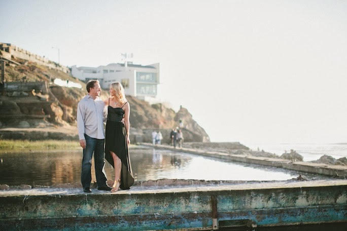 engagement photos, sutro baths