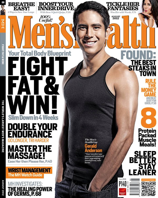 Gerald Anderson Covers Men's Health Philippines August 2012 issue