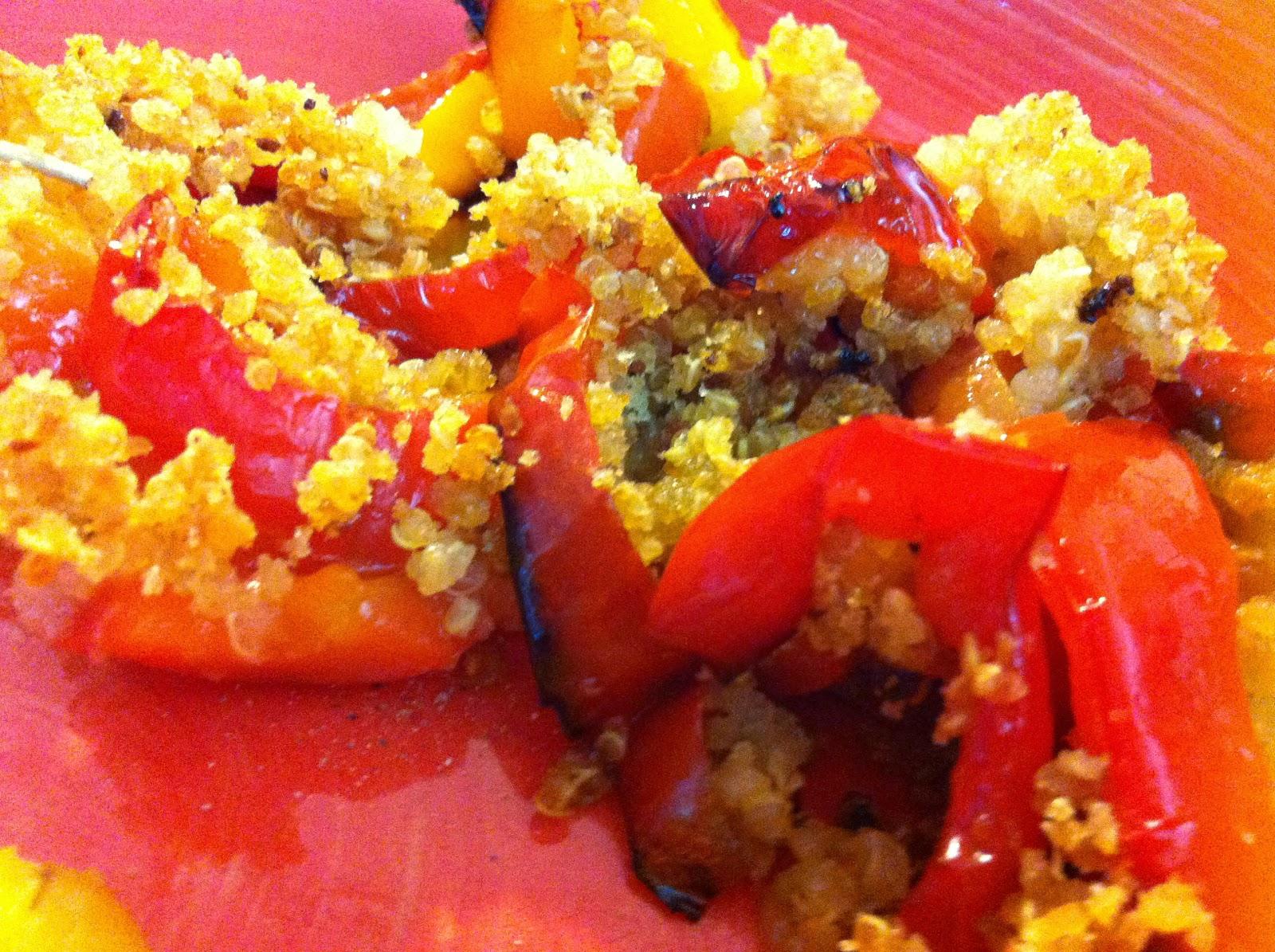 peperoni in crosta di quinoa profumata allo zenzero