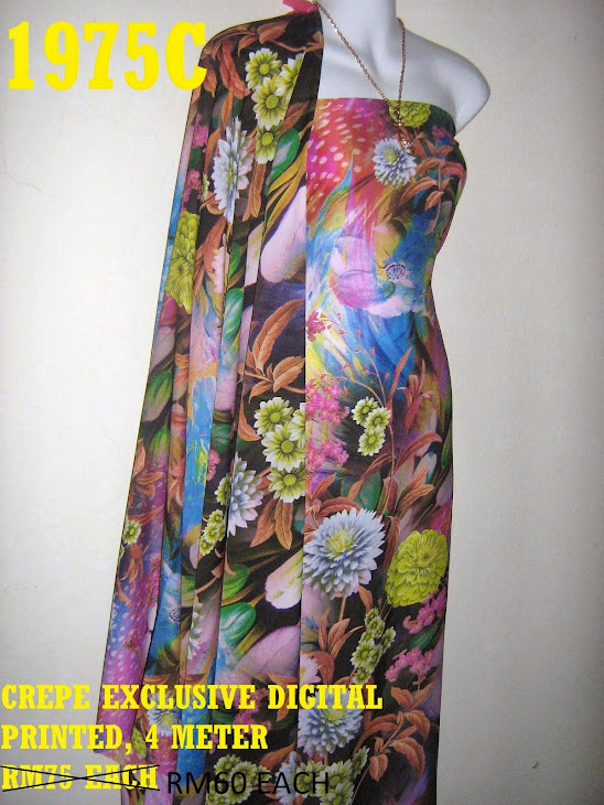 CDP 1975C: CREPE EXCLUSIVE DIGITAL PRINTED, 4 METER