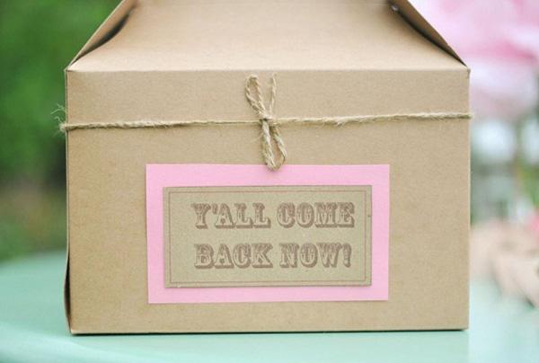 caja de cartón para invitaciones-fiesta cumpleaños country vintage
