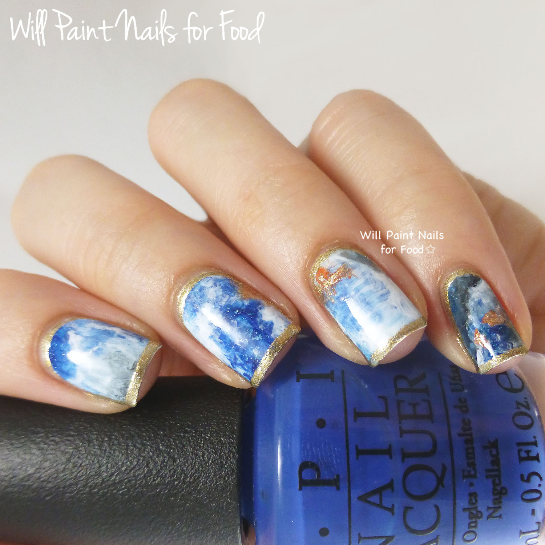 Jewel-tipped uncut sapphire nail art