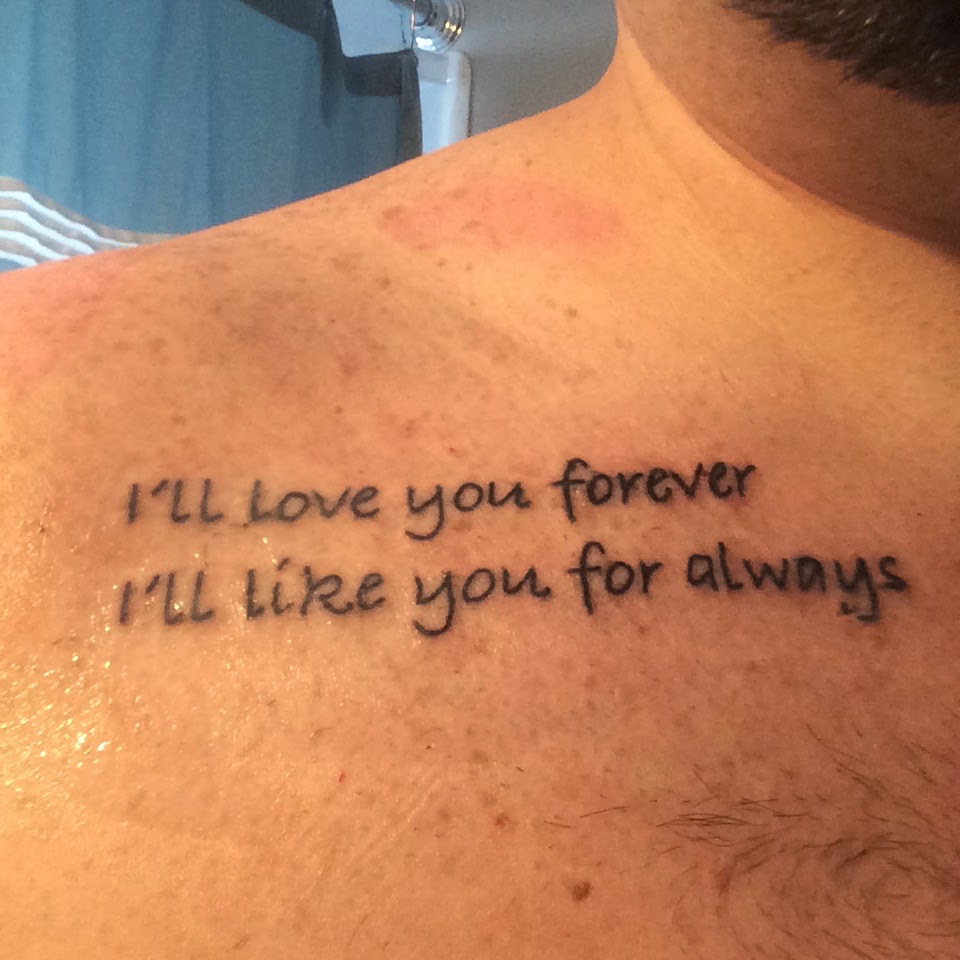I Ll Love You Forever Quote Grieving Johnathan Paul I'll Love You Forever