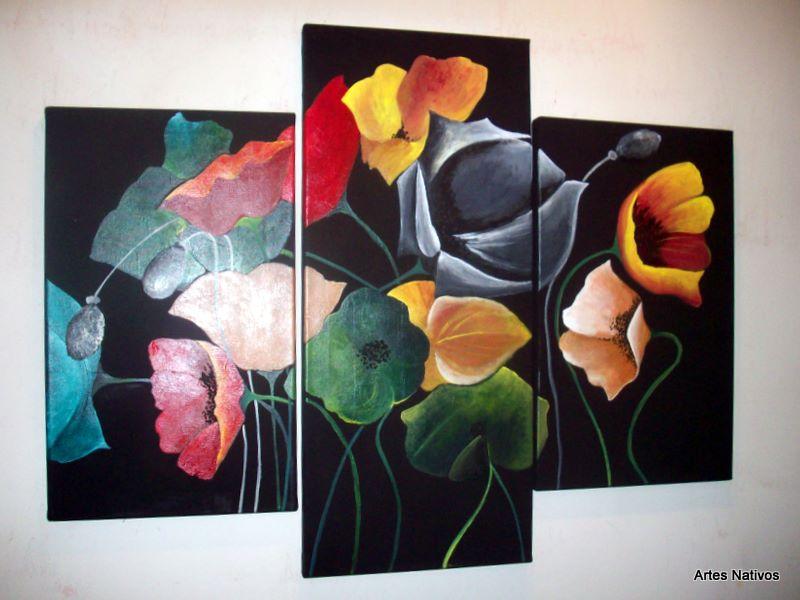 Cuadros minimalistas tripticos cuadros en decoracin para for Cuadros tripticos online