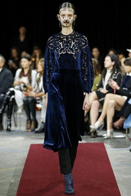 Givenchy velvet look