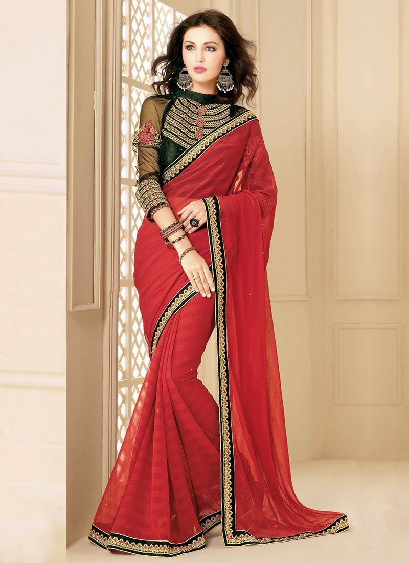 Girly Girl: Simple Saree Designs | College Girls 2015