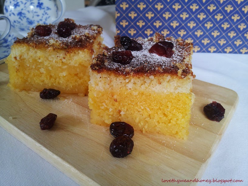 creamy polenta cake