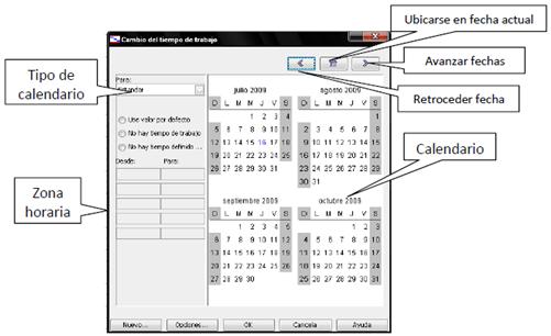 Calendarios en OpenProj