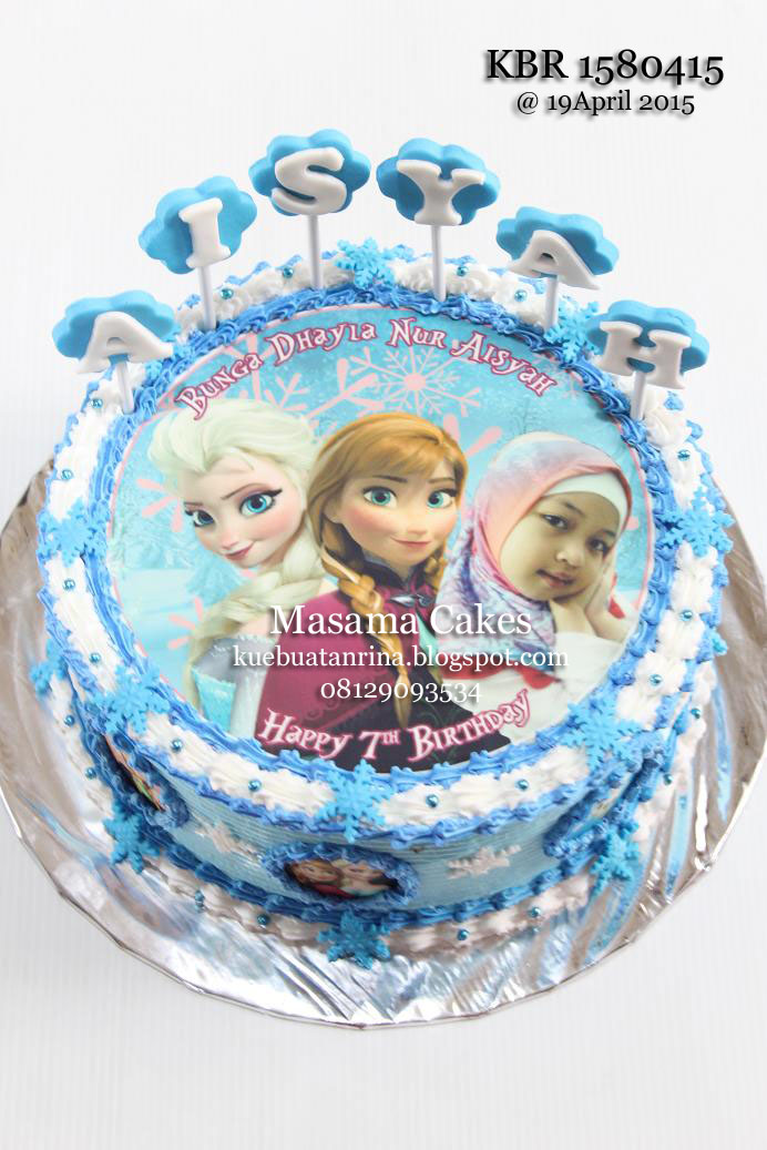 masama cakes frozen birthday cake with edible for aisya on frozen birthday cake edible image