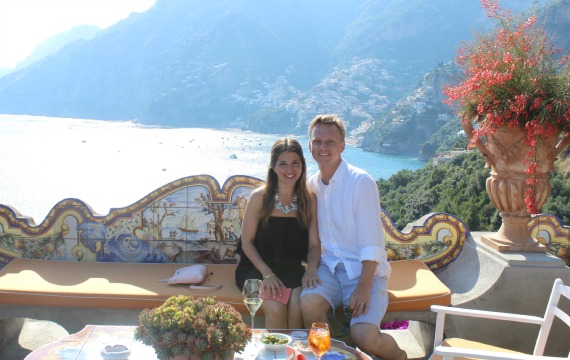 The Views Are Absolutely Spectacular Waitstaff Is Polished And Charming A Bellini Aperol Spritzer At Il San Pietro Di Positano For Sure Worth
