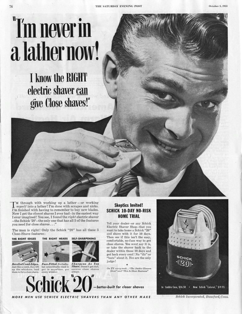 1940 schick electric shavers