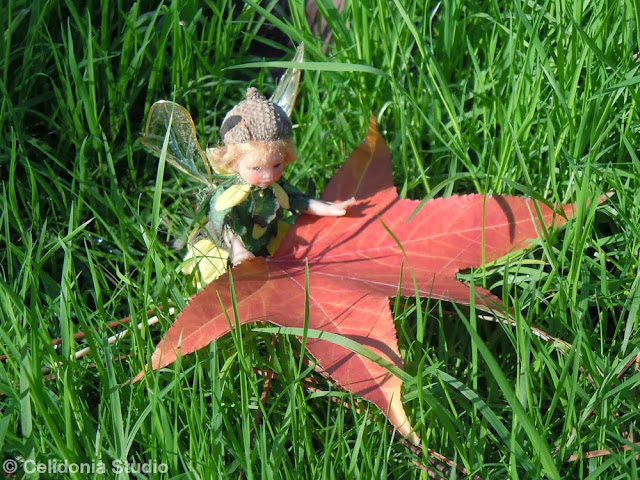 Little Fairy with Leaf