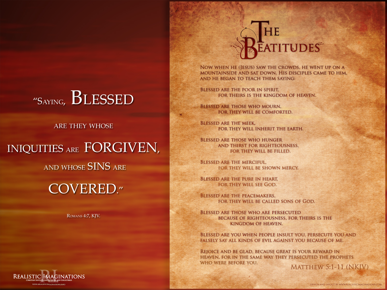 the beatitudes essay The sermon on the mount opens with the beatitudes—eight statements beginning with the word blessed[1] this word affirms a state of blessing that already exists.