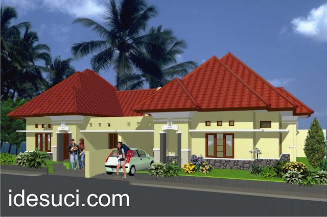 desain rumah art deco 1 lantai type 95