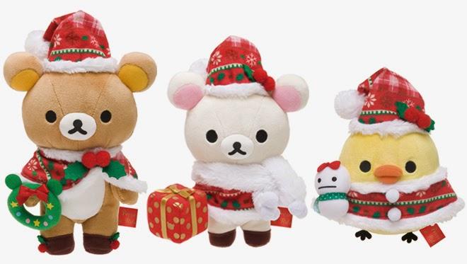 Rilakkuma Shop: Rilakkuma Christmas 2014 Plushies!