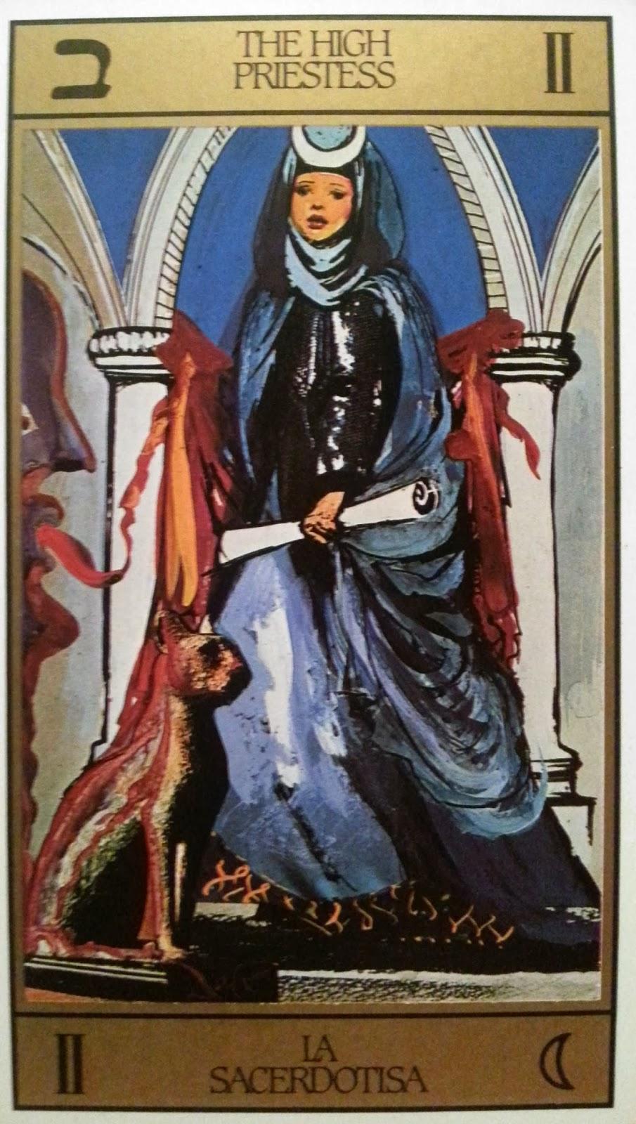 La Sacerdotisa. Tarot de Dalí.