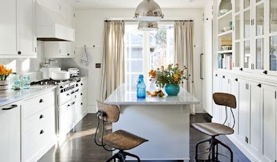 cocina en color blanco