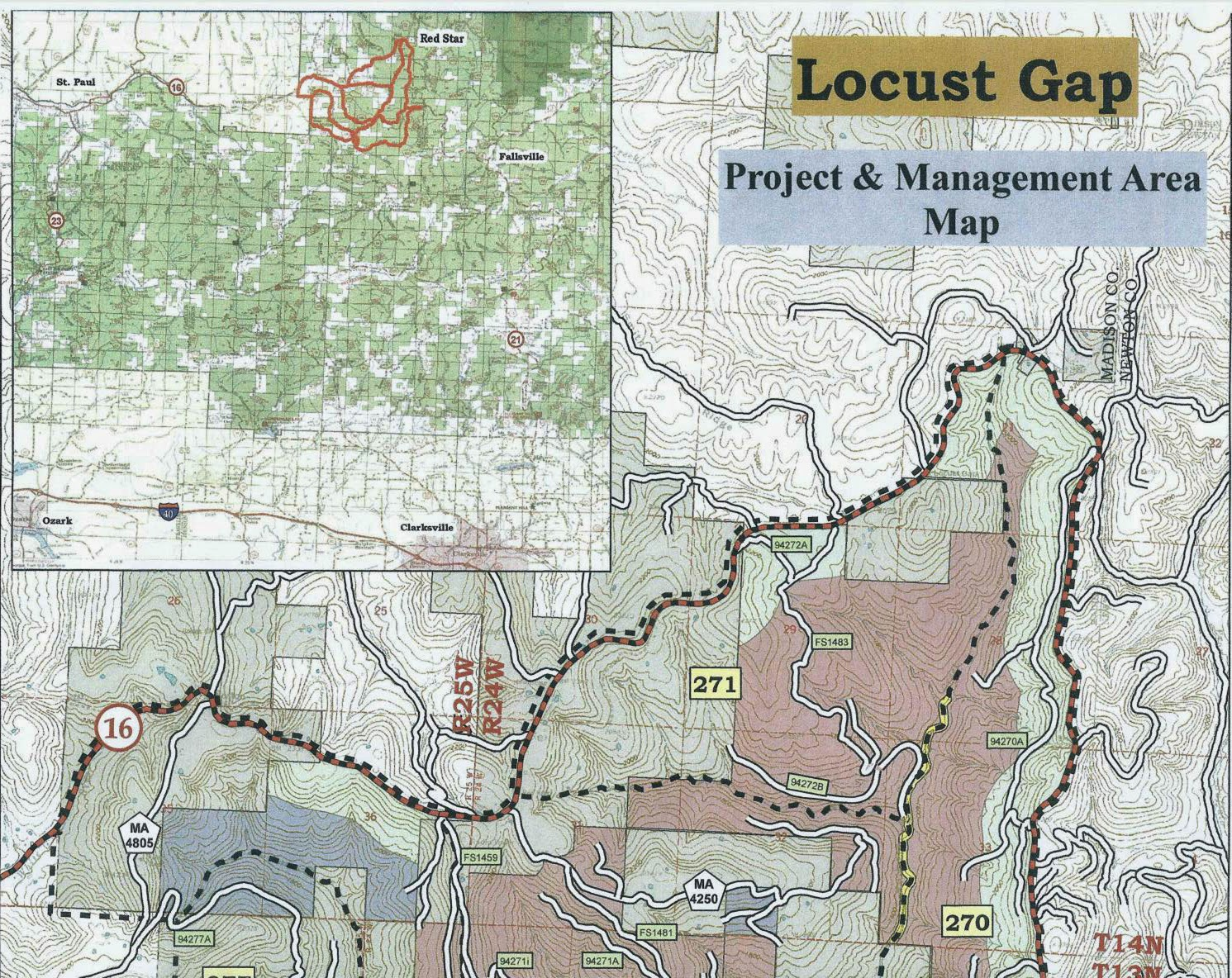 u s forest service plan to log locust gap area of ozark national forest
