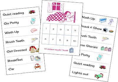 morning, bedtime, and sleep charts to help kids with routines ~ Life in Random Bits #charts #printable