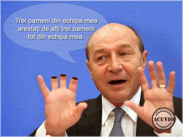 Traian Băsescu Trei Funny photo