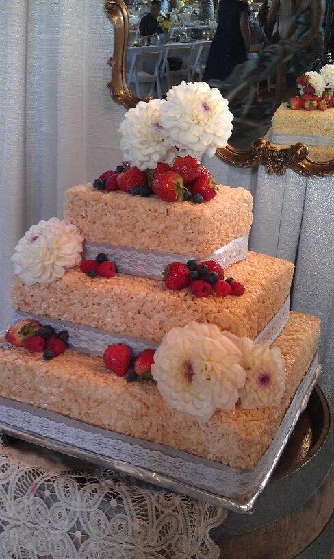 Rice krispies wedding cakes