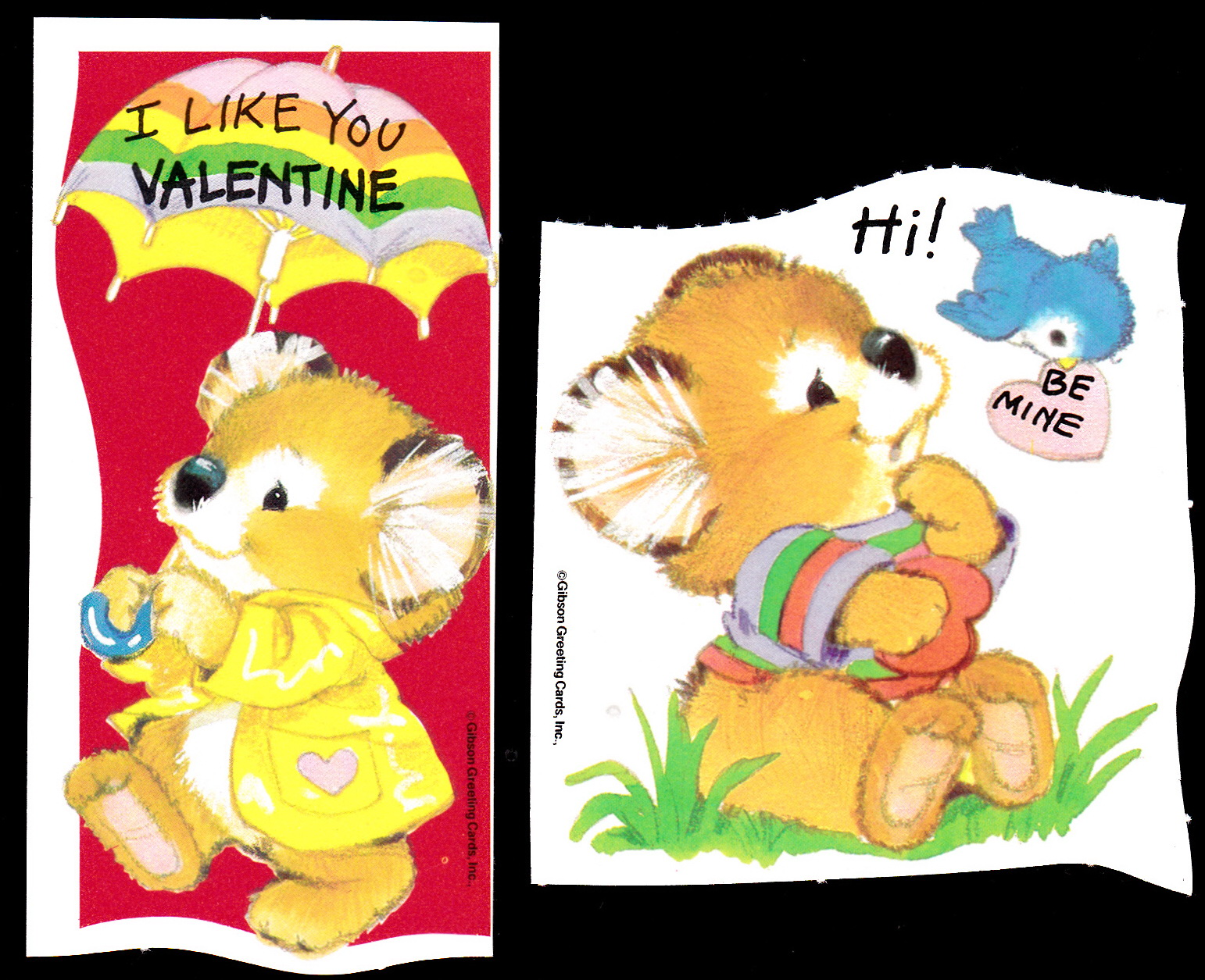 Vintage recycling 14 in 14 fourteen days of vintage valentines gibson greeting cards inc m4hsunfo