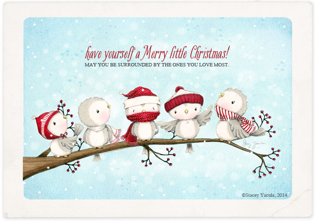 Christmas Birds Illustration
