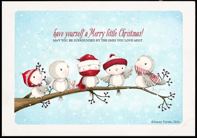Christmas Birds Illustration