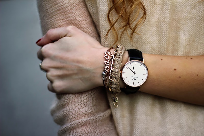 Daniel Wellington watch, bracelets