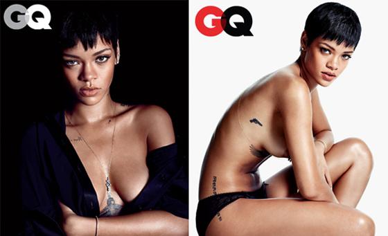 Les photos de Rihanna seins nus pour le magazine GQ