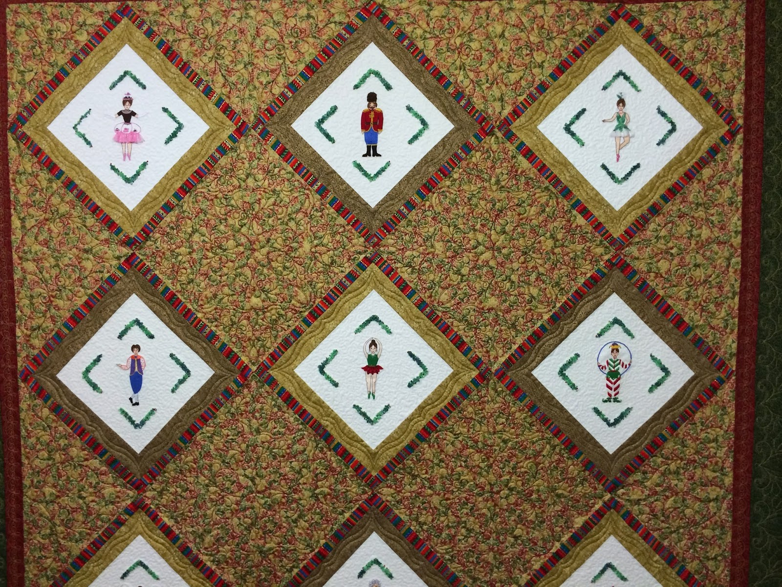 Carolyn Yestrumsky Nutcracker Quilt
