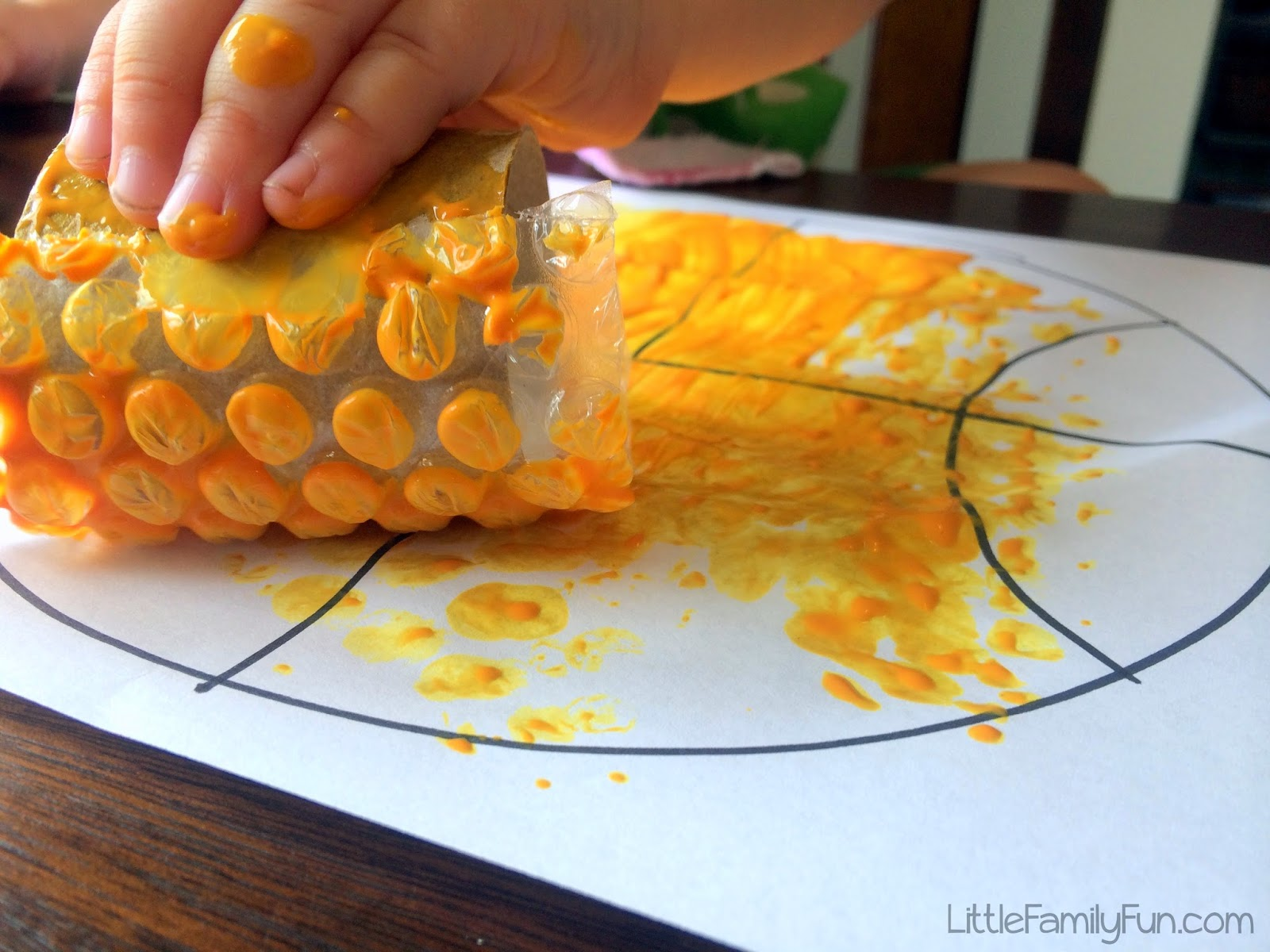Little family fun basketball craft for kids - Cuisine soort ...