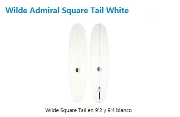 Wilde Admiral Square Tail White