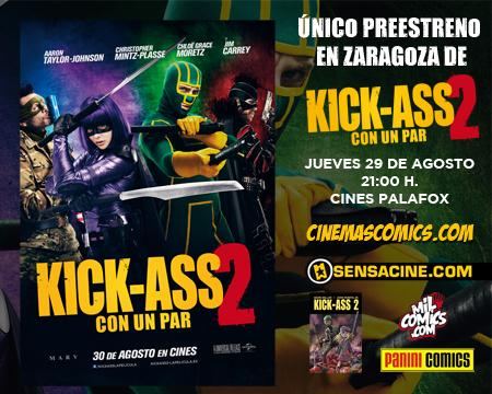 ¿Quieres entradas para el preestreno de Kick-Ass 2 en Zaragoza?