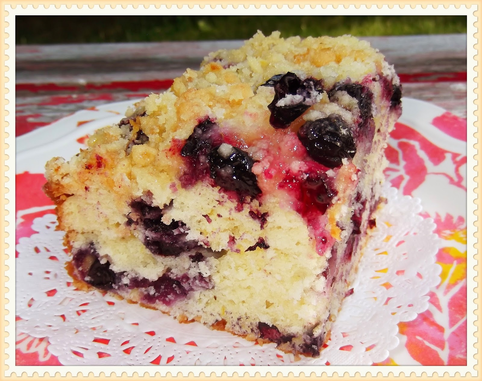 Rosie's Country Baking: Lemon Blueberry Buckle